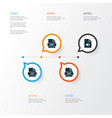 types icons set collection of jsp storage vector image vector image