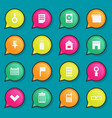 universal flat icons for web and mobile vector image