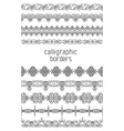 Vintage seamless borders isolated on white vector image