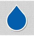 water drop label vector image vector image