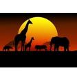 wildlife silhouette vector image vector image