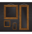wood frames vector image vector image
