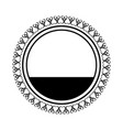 flourish ornament emblem vintage abstract element vector image