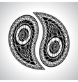 Abstract floral Yin Yang Symbol vector image