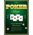 Poker Tournament Poster vector image