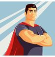 Superhero in Comics Style vector image