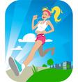 Running girl vector image