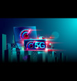 5g high speed network communication internet vector image vector image