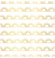 abstract doodle arcs background seamless gold foil vector image
