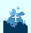 airplane aerial view vector image vector image