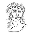 art head david michelangelo vector image vector image