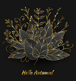 autumn bouquet made of golden leaves vector image vector image