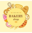 Bakery Flat Round Composition vector image vector image