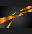 black bronze abstract corporate background vector image vector image