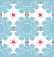 blue red mosaic pattern modern contrast geometric vector image