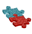 building jigsaw vector image vector image