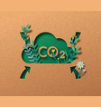 co2 air emission reduction green nature concept vector image