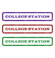 college station watermark stamp vector image
