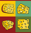 color set of cheese vector image vector image