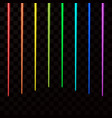 colorful laser beams abstract laser rays all vector image vector image