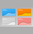 colorful trendy web banners set vector image