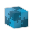 Cube in puzzle piece icon