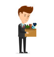 dismissal frustrated concept business man vector image vector image
