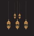 eids mubarak light vector image vector image
