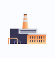 factory building icon industrial plant with pipes vector image
