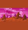 fantasy concept space cartoon game background vector image vector image