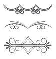Floral and decorative vintage design elements vector image vector image