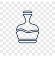 fountain jar concept linear icon isolated on vector image
