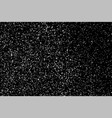 grain abstract texture isolated on black vector image vector image