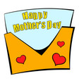 greeting card for mother day icon cartoon vector image vector image