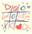 hand drawn love and heart valentines day vector image
