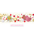 happy valentines day greeting card heart gifts vector image vector image