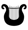 harp icon black color flat style simple image vector image