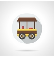 Ice-cream trade trolley flat round icon vector image vector image