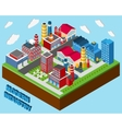 Industrial Buildings Isometric vector image vector image