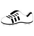 isolated soccer cleat icon vector image vector image