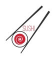 Japanese sushi bar food logo template vector image vector image