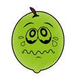 lemon fresh fruit kawaii character vector image vector image