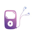 line mp3 player to listen music with headphones vector image vector image