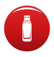 mini flash drive icon red vector image vector image