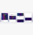 minimalistic brochure design template set rainbow vector image vector image