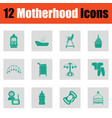motherhood icon set vector image vector image
