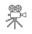 movie camera linear icon vector image vector image