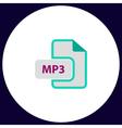 MP3 computer symbol vector image vector image