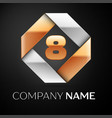 number eight logo symbol in the colorful rhombus vector image vector image