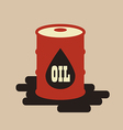 Oil barrel flat icon vector image